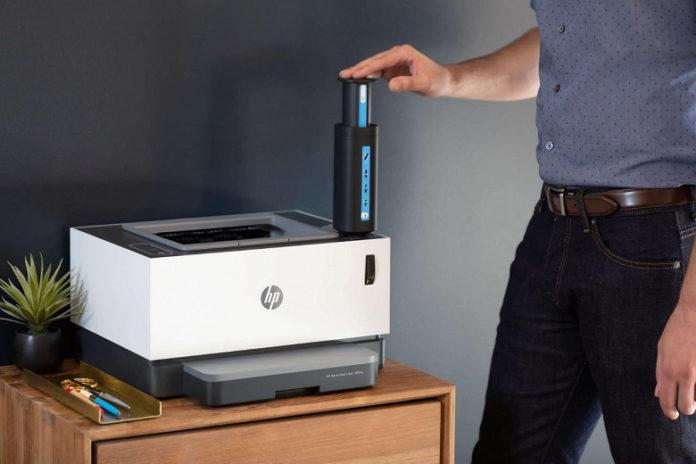 HP представила первый в мире лазерный принтер без картриджа