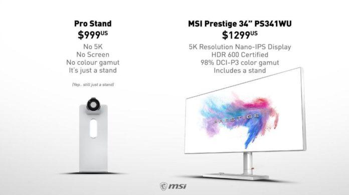 MSI поглумилась над Apple и безумной ценой её нового продукта